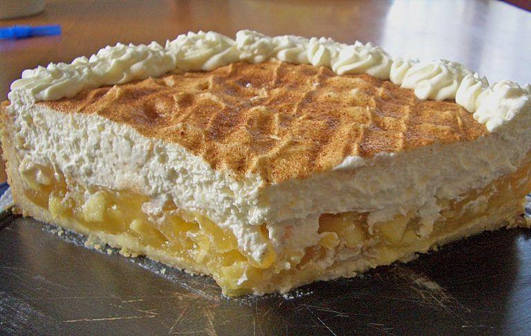 Photo of Leckerer Apfel – Schmand – Torte