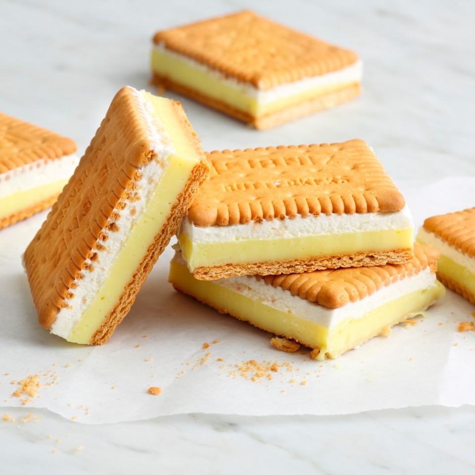 Photo of Butterkeks-Vanillecreme-Schnitten ohne Backen