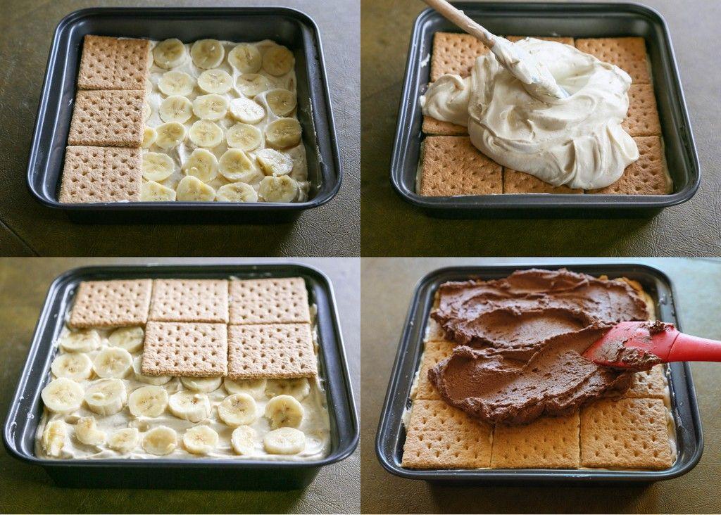 Photo of Wunderbares Bananen Butterkeks Dessert ohne Backen