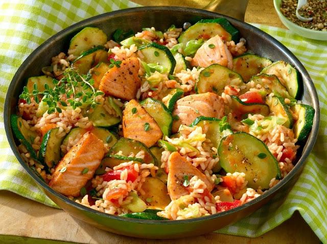 Photo of Lachspfanne mit Zucchini