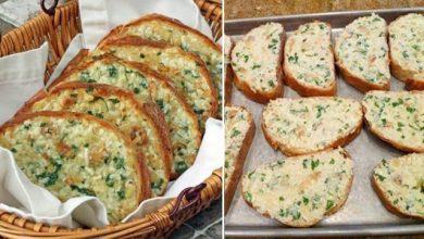 Photo of Überbackenes Brot mit gebackenem Knoblauch