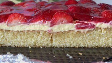 Photo of Erdbeer-Kuchen mit Vanillecreme