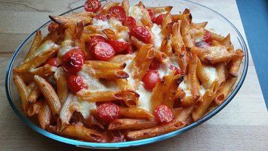 Photo of Cremiger Nudelauflauf mit Tomaten und Mozzarella