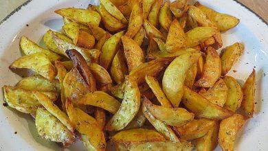 Photo of Fettarme Kartoffelspalten aus dem Ofen