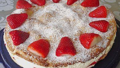 Photo of Erdbeer – Flocken – Torte