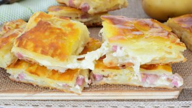 Photo of Blätterteigtaschen mit schinken und käse, 5 minuten zubereitung !
