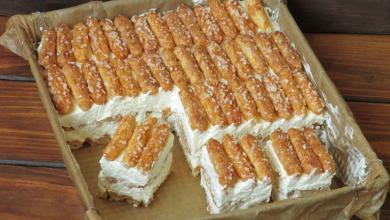 Photo of Butterkeks kuchen mit vanillecreme, ohne backen !