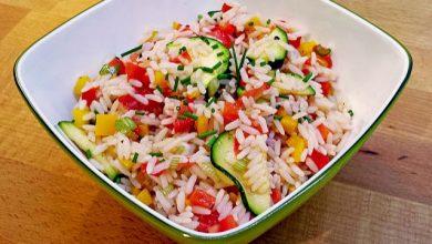 Photo of Reissalat (ohne Fleisch und Wurst – kalorienarm – zum mitnehmen ins Büro)
