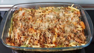 Photo of Spaghettiauflauf mit Hackfleisch und Erbsen